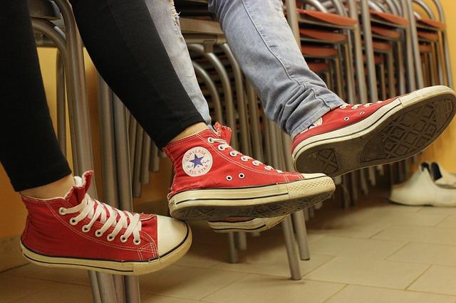 červené converse