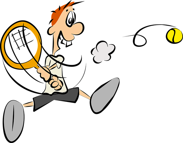 kreslený tenista