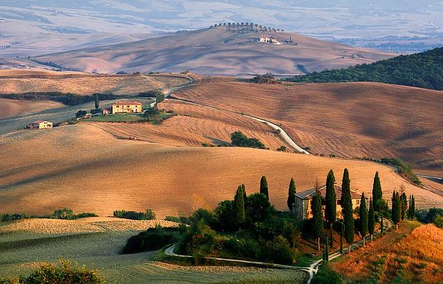 krajina v toskánsku