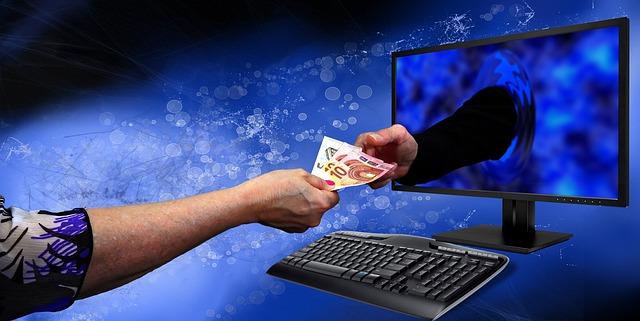 předání peněz přes internet